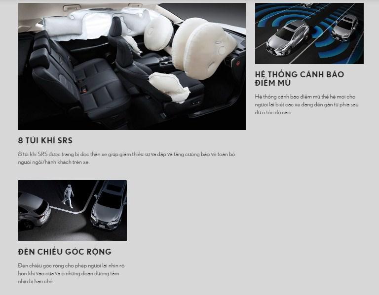 hệ thống an toàn lexus nx300